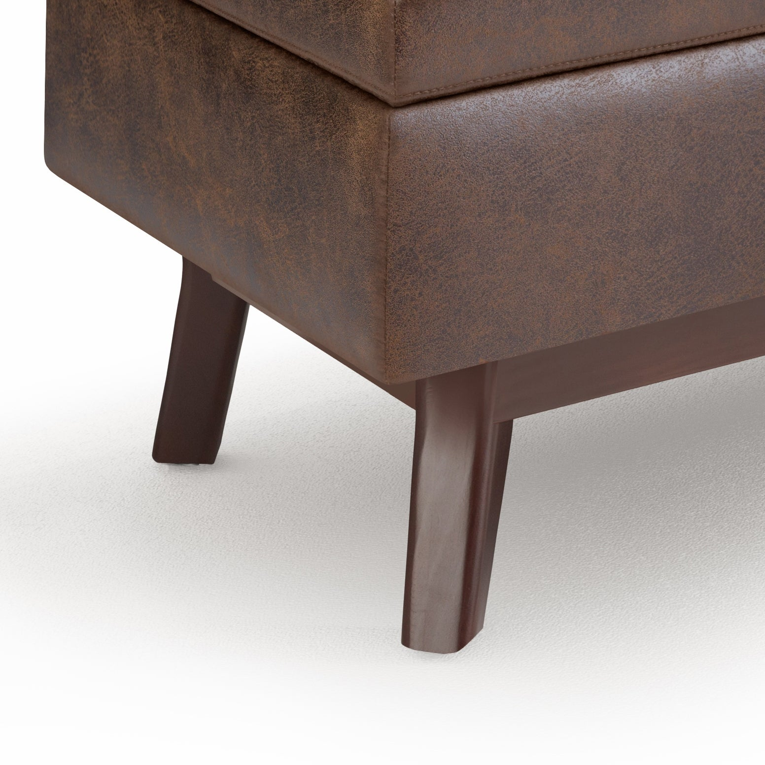 Shop Black Friday Deals On Wyndenhall Ethan 34 Inch Wide Mid Century Modern Rectangle Table Ottoman Overstock 14646859