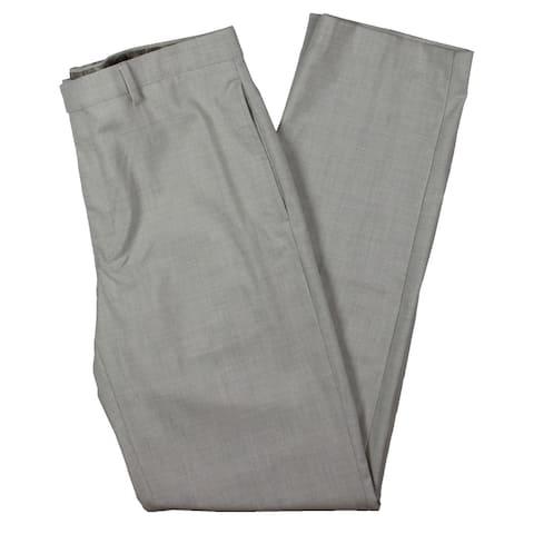 Lauren Ralph Lauren Mens Dress Pants Glen Plaid Business - Light Grey