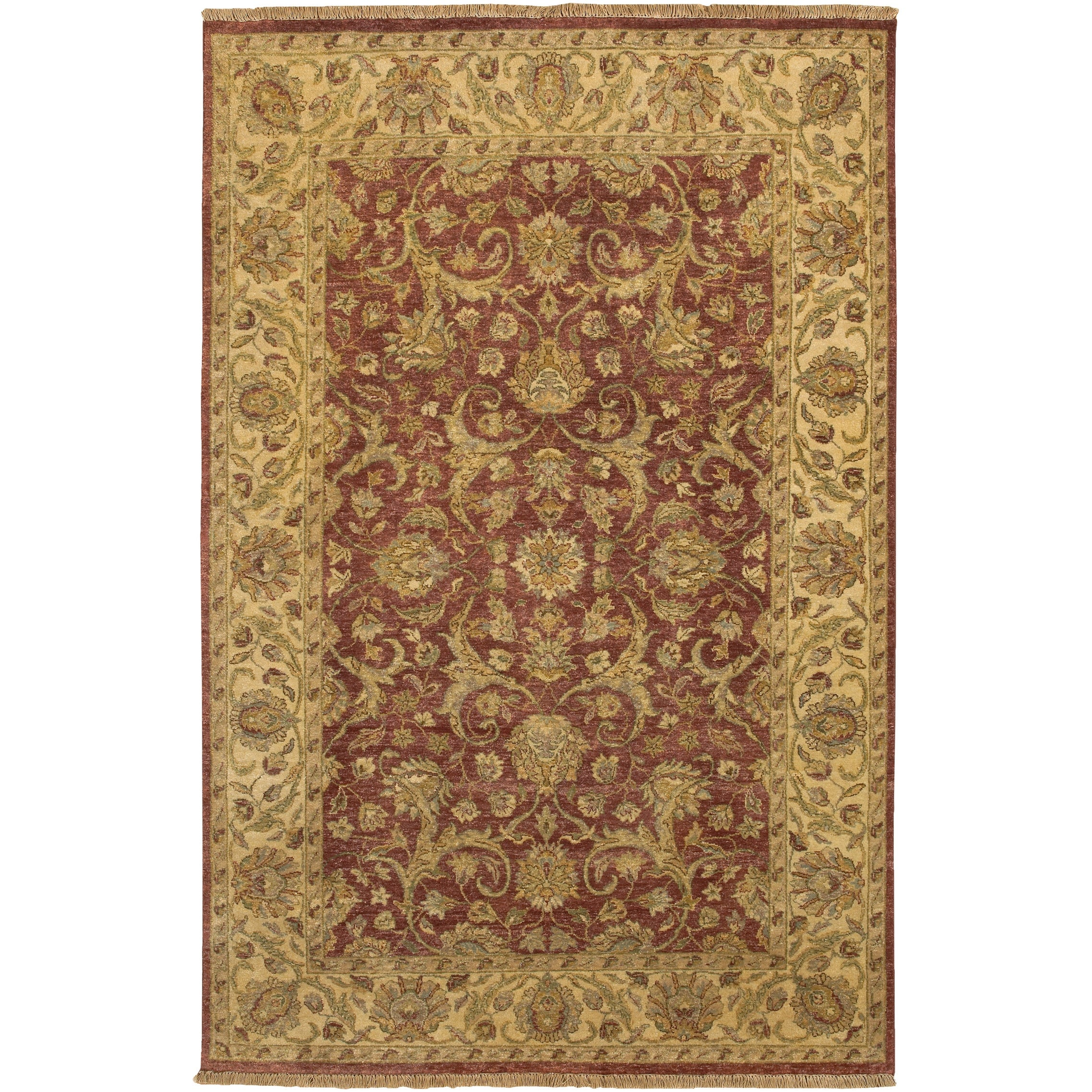 "Hand-knotted Legacy New Zealand Hard-twist Wool Area Rug - 5'6"" x 8'6"""
