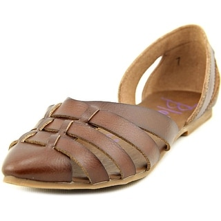 Blowfish Zeal Women Pointed Toe Synthetic Brown Flats