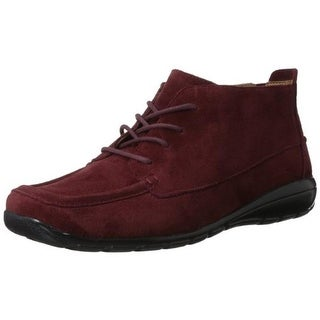 Easy Spirit Womens Adagio Suede Lace-Up Booties