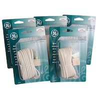 Pack of 5 GE Telephone Jack Base Cords with 2 Device Adapters - brown