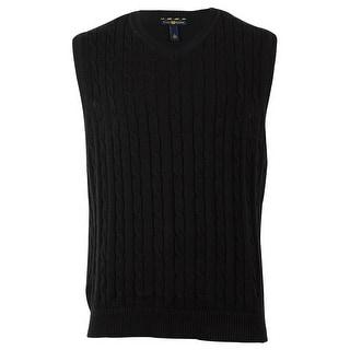 Club Room Men's Cable Knit Sweater Vest - S