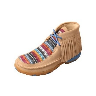Twisted X Casual Shoes Girls Serape Fringe Driving Moc Tan YDM0031