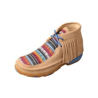 Twisted X Casual Shoes Girls Serape Fringe Driving Moc Tan