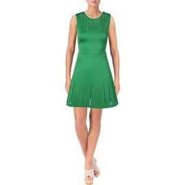 Clover Canyon Womens Cut-Out Sleeveless Wear to Work Dress - M