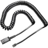Plantronics, inc. 27190-01 plantronics - handset cable - rj-11 (m) - quick disconnect (m) - Smoke