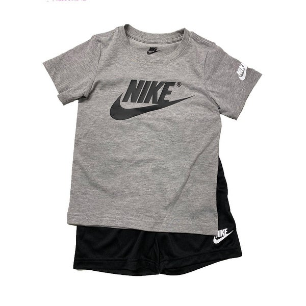 7401110d6 Shop Nike Little Boys' 2 Piece Tee & Short Set, Just Do It, Heather Grey, 6  Kids - Free Shipping On Orders Over $45 - Overstock - 27865176