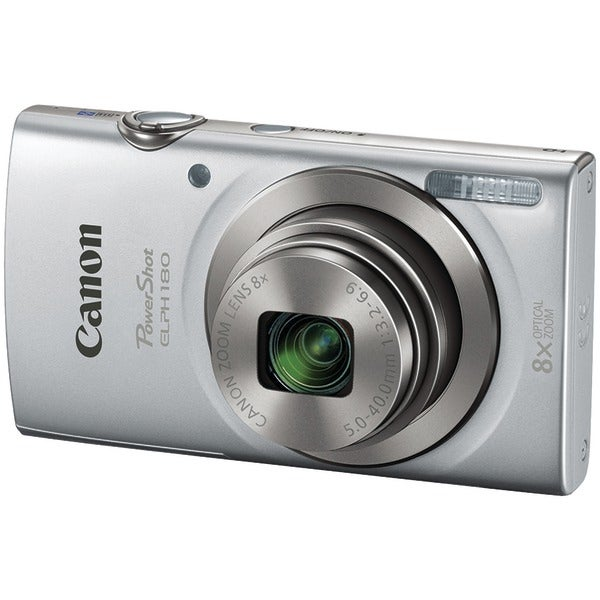 Canon 1093C001 20.0-Megapixel Powershot(R) Elph(R) 180 Hs Digital Camera (Silver)