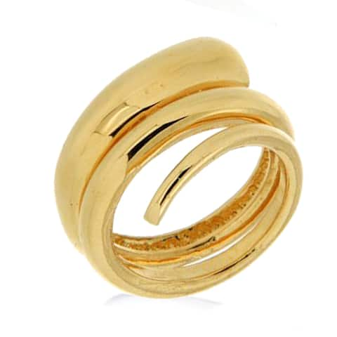 Forever Last 18 kt Gold Plated Women's Spiraled Nail Ring