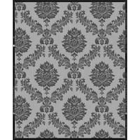Graham and Brown 20-857 56 Square Foot - Jacquard Black and Grey - Non-Pasted Vinyl Wallpaper - N/A