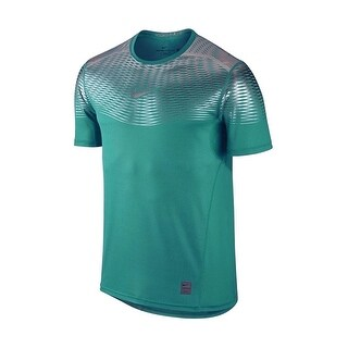Nike NEW Green Teal Mens Size Large L Hypercool Dri-Fit Fitted T-Shirt