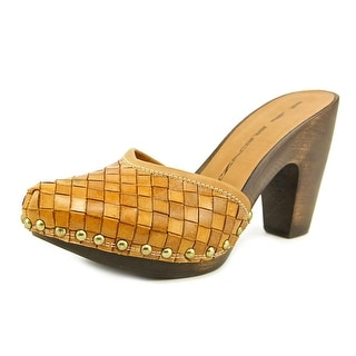 R&Renzi Stuoia Women Pointed Toe Synthetic Brown Mules