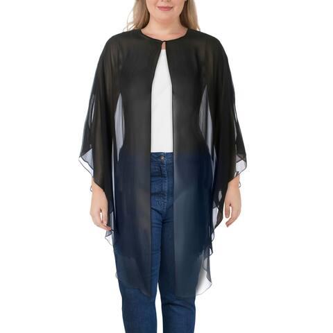 SLNY Womens Topper Jacket Chiffon Sheer