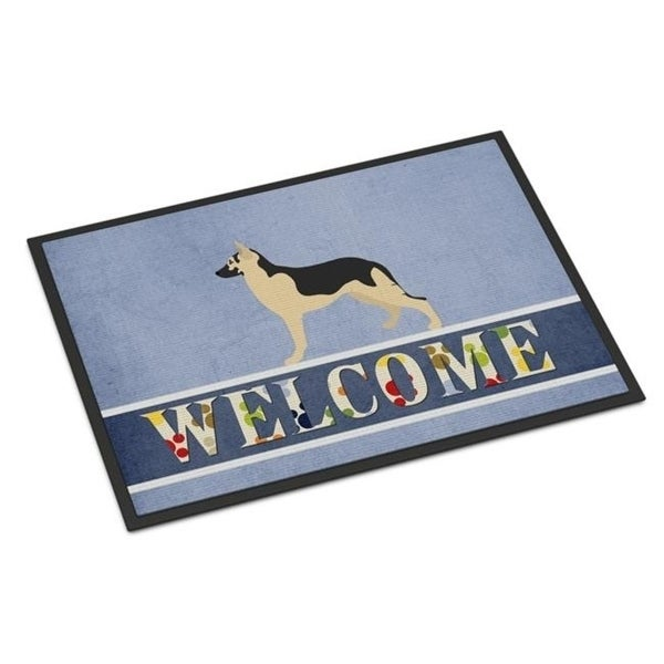 Carolines Treasures BB8330MAT German Shepherd Welcome Indoor or Outdoor Mat - 18 x 27 in.