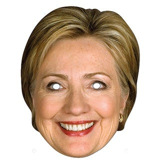 Hillary Clinton Female Paper Costume Mask - Beige