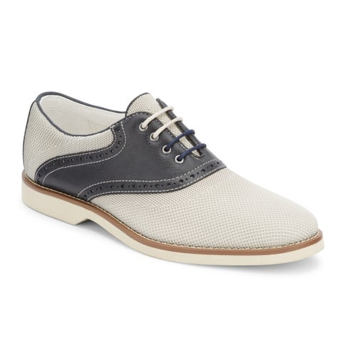 G.H. Bass & Co. Mens Parker Leather Saddle Oxford Shoe