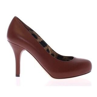Dolce & Gabbana Brown Leather Platform Classic Pumps - 36