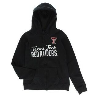 Cover One Womens Texas Tech Red Raiders Full Zip Hoodie Black - M