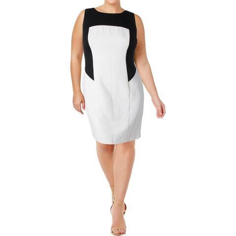 Lauren Ralph Lauren Womens Wear to Work Dress Colorblock Open Back