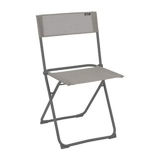 Folding Chair - Set of 2 - Basalt Steel Frame - Terre Fabric