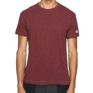 Champion NEW Red Mens Size Large L Slub Short Sleeve Crewneck Tee T-Shirt
