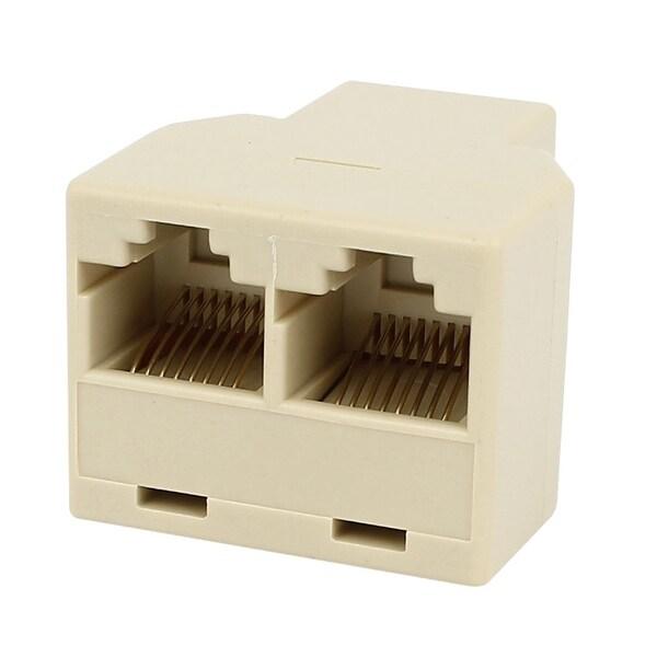 Unique Bargains RJ45 8P8C 3 Ports Female to Female Network ADSL Splitter Adapter Connector