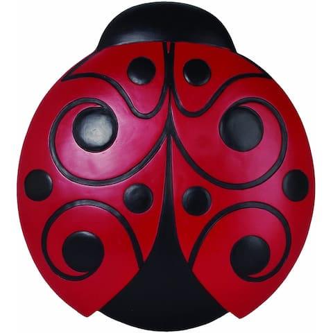 Set of 6 Red and Black Ladybug Decorative Garden Stones