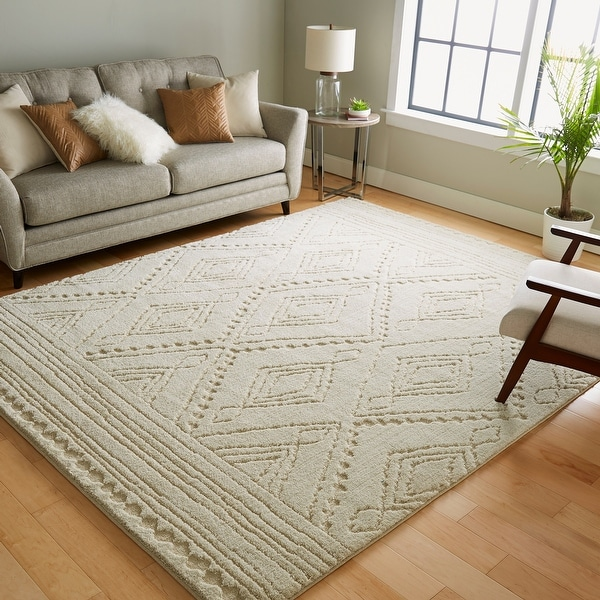 Mohawk Home Nomad Vado High/Low Boho Tribal Geometric Area Rug. Opens flyout.