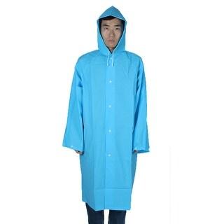 Mefine Authorized EVA Water Resistent Rainwear Coat Outdoor Rain Poncho Blue XL