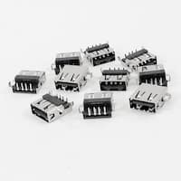 Unique Bargains 10pcs Shielded 90 Degree 4-Pin DIP Female USB A Jack Socket Connector