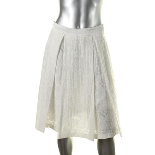 Vince Camuto Womens Burnout Pleated A-Line Skirt - 2