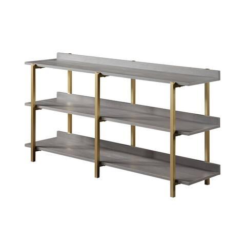 Furniture of America Bizi Contemporary Metal Wide Display Shelf