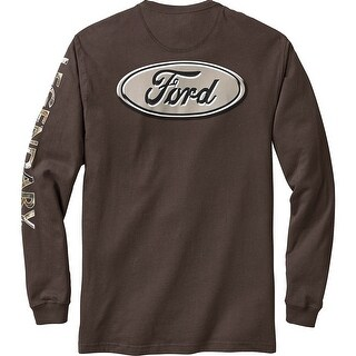 Legendary Whitetails Men's Cross Country Long Sleeve Tee - ford chocolate brown