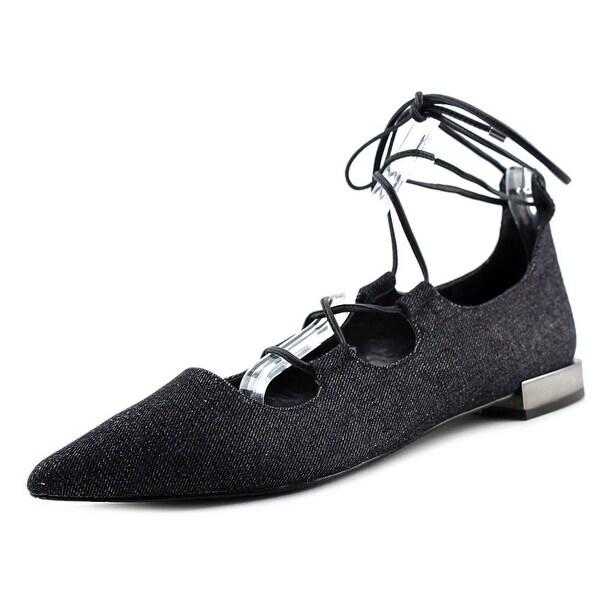 Tahari Camden Women Open Toe Canvas Black Sandals