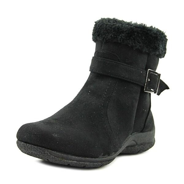 Judith Cori Women Round Toe Canvas Black Winter Boot