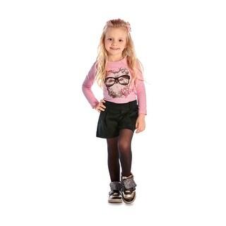 Toddler Girl Outfit Long Sleeve T-Shirt and Shorts Set Pulla Bulla 1-3 Years