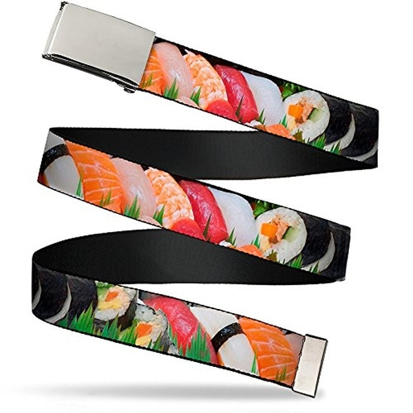 "Buckle-Down Web Belt Sushi 1.5"""