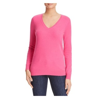 Private Label Womens Pullover Sweater Ribbed Trim V-Neck (3 options available)