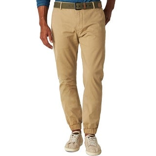 Dockers Mens Alpha Athletic Fit Jogger Pants Desert Sand Khaki 34 x 30