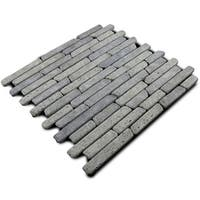 Miseno MT-L3RBK Strip Mosaic Natural Stone Tile (9.9 SF / Carton) - N/A