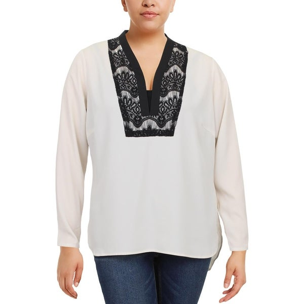 8769d92f135 Shop Junarose Womens Dress Top Long Sleeve Lace Trim - Free Shipping On  Orders Over  45 - Overstock.com - 23139158