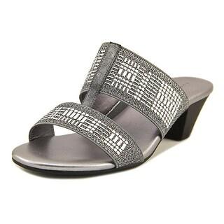 Karen Scott Womens Zana Fabric Open Toe Casual Slide Sandals