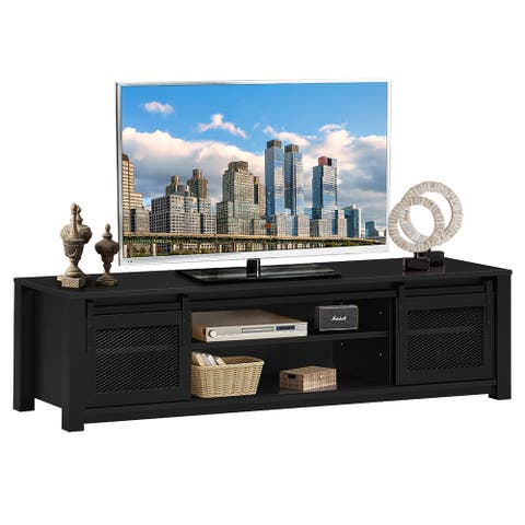 Costway TV Stand Entertainment Center for TV's up to 65'' with Sliding
