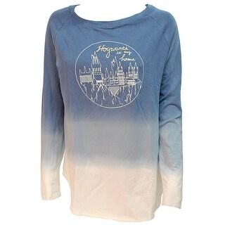 Harry Potter Hogwarts Castle Juniors Long Sleeve Dip Dye Raglan T-shirt