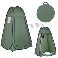 Costway Green Portable Pop up Tent Dressing Changing Room Toilet Shower Camping