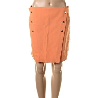 Zara Basic Womens Ponte Knee Length A-Line Skirt - XL