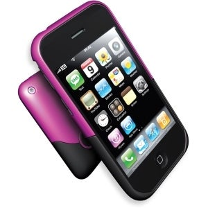iFrogz Luxe Hard Case for Apple iPhone 3G, 3GS (Pink,Black)