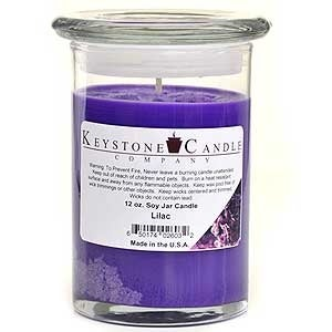 1 Pc 12 oz Lilac Soy Jar Candles 3.5 in. diameter x 5 in. tall
