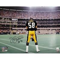 Jack Lambert Autographed Pittsburgh Steelers SB XII 16x20 Photo HOF JSA
